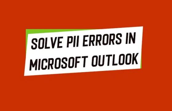 Solve all Pii Errors in Outlook